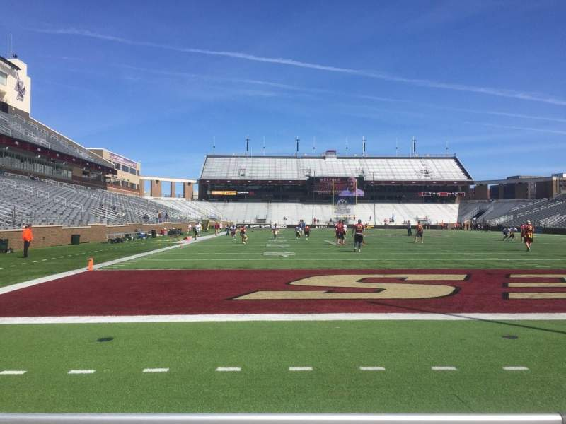 Seating view for Alumni Stadium Section J Row 3 Seat 38