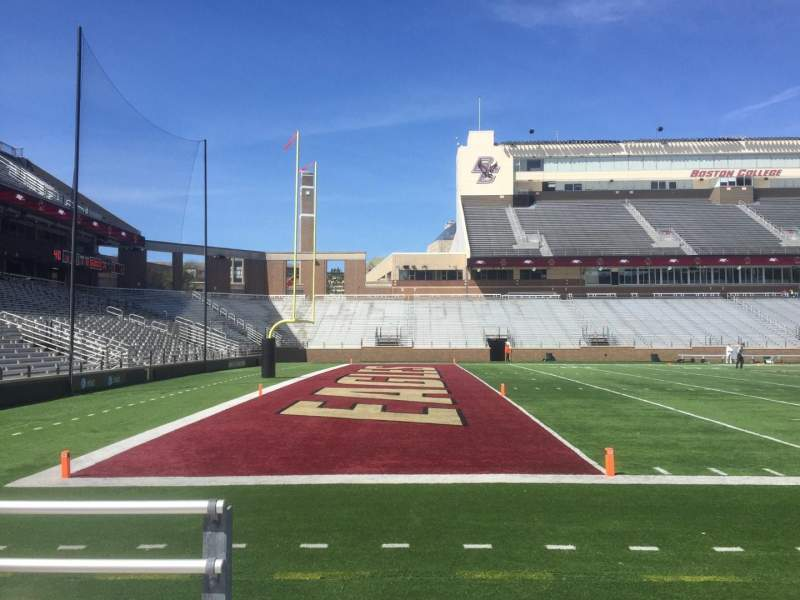 Seating view for Alumni Stadium Section P Row 4 Seat 40