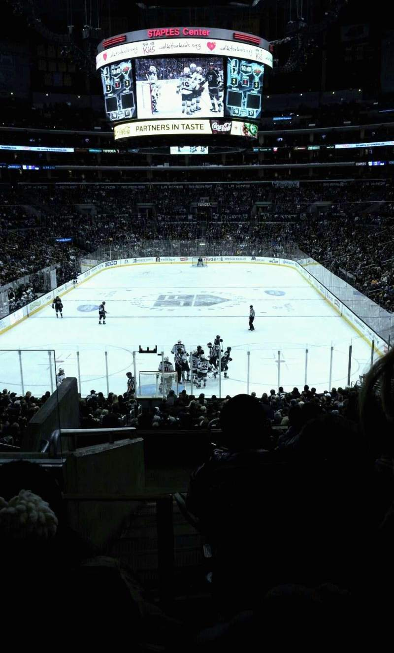 Seating view for Staples Center Section 216