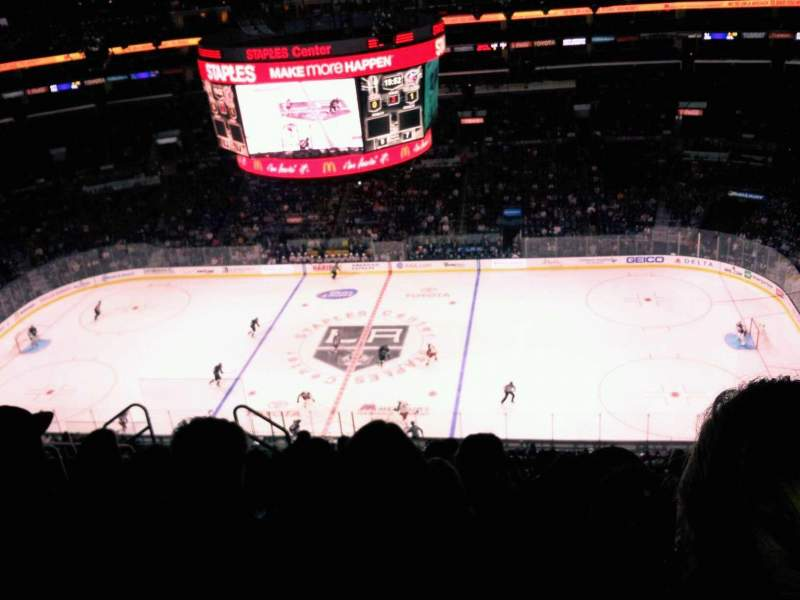 Seating view for Staples Center Section 317 Row 10 Seat 7