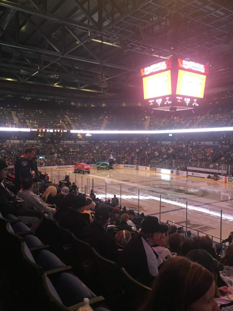 Seating view for Citizens Business Bank Arena Section 102 Row O Seat 12