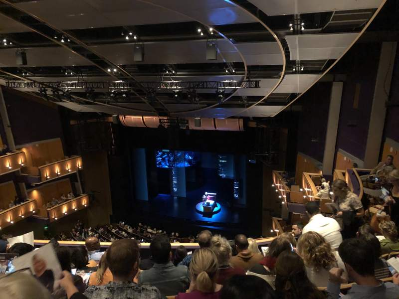 Seating view for Ahmanson Theatre Section Balcony Row F Seat 5