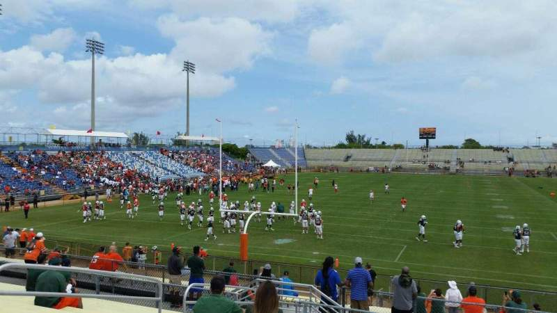 Seating view for Lockhart Stadium Section 112 Row 25