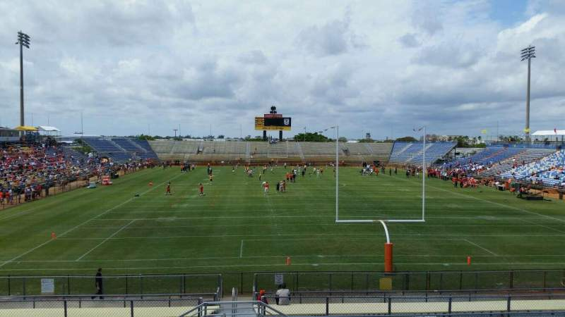 Seating view for Lockhart Stadium  Section 131 Row 18