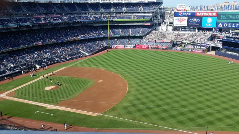Seating view for Yankee Stadium Section 413 Row 1 Seat 5