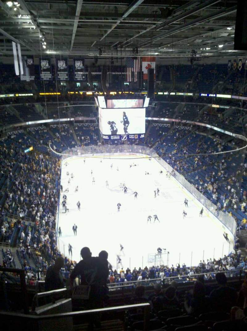 Seating view for Amalie Arena Section 324 Row k Seat 21