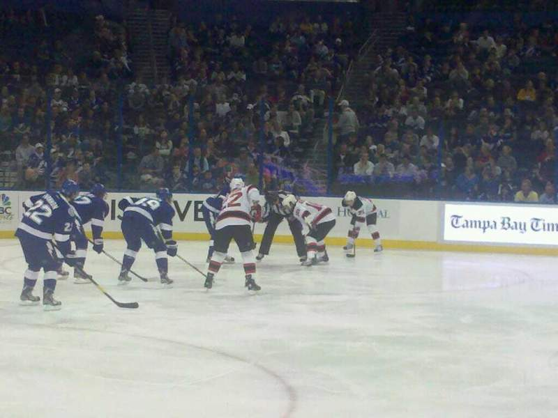 Seating view for Amalie Arena Section 117 Row D Seat 15