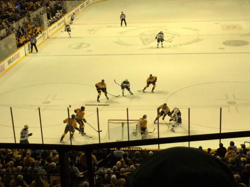 Seating view for Bridgestone Arena Section 201 Row B Seat 6