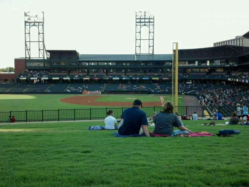 Seating view for Autozone Park Section bluff Row ga Seat ga