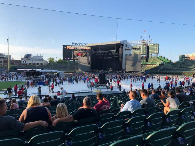 Seating view for Wrigley Field Section 131 Row 8 Seat 107