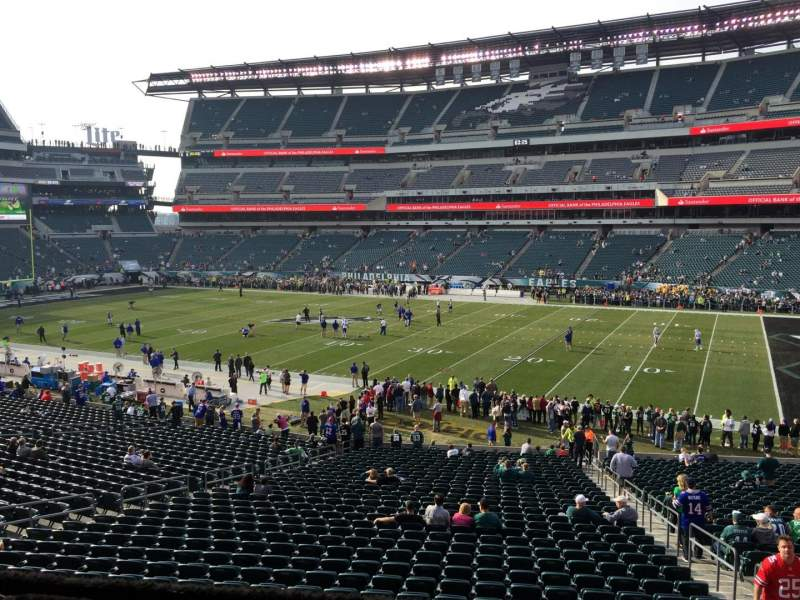 Seating view for Lincoln Financial Field Section LS8 Row 1 Seat 9