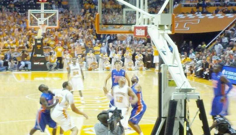 Seating view for Thompson-Boling Arena Section 113