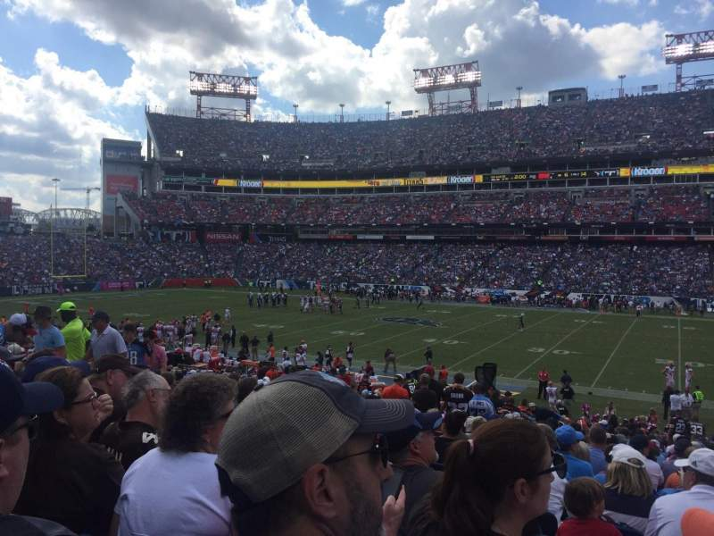 Seating view for Nissan Stadium Section 110 Row CC