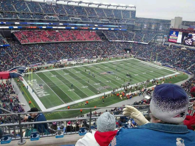 Seating view for Gillette Stadium Section 337 Row 11 Seat 16