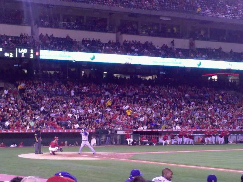 Seating view for Angel Stadium Section F125 Row g Seat 15
