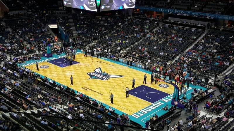 Seating view for Spectrum Center Section 222 Row B Seat 4 and 5