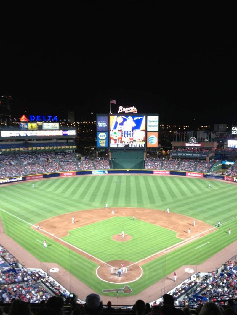 Seating view for Turner Field Section 401 Row 16 Seat 111