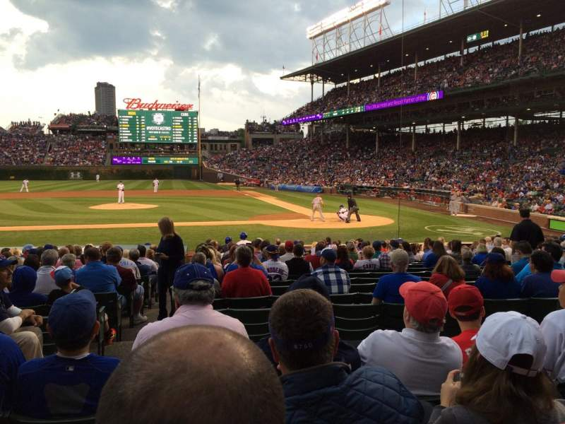 Seating view for Wrigley Field Section 115 Row 4 Seat 6