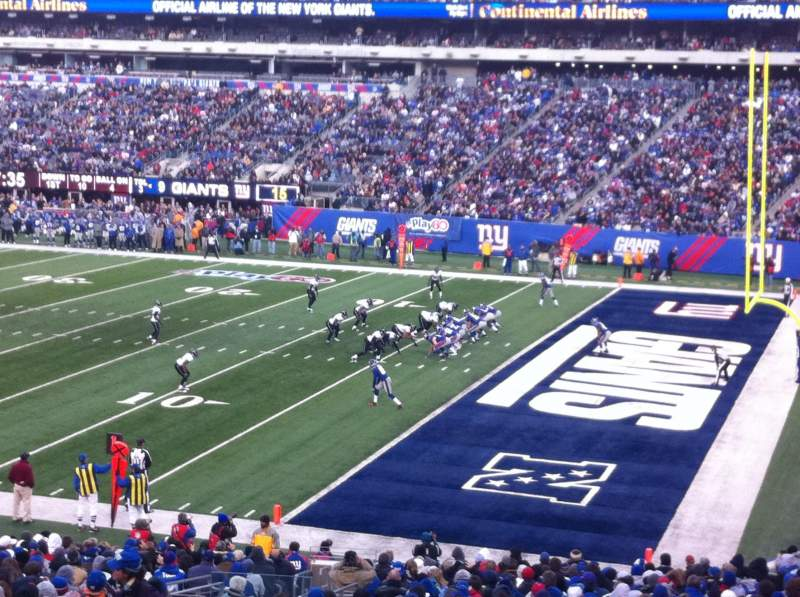 Seating view for Metlife Stadium Section 133 Row 34