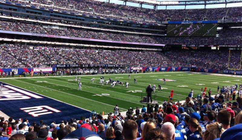 Seating view for Metlife Stadium Section 144 Row 20 Seat 19