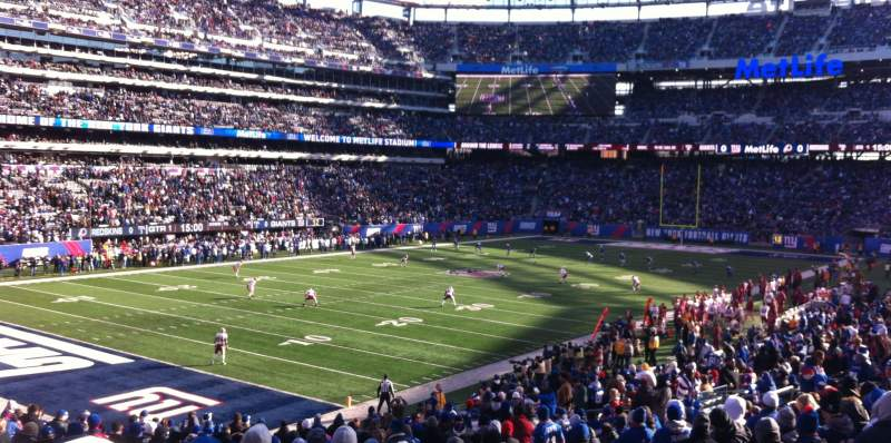Seating view for Metlife Stadium Section 146 Row 30 Seat 8