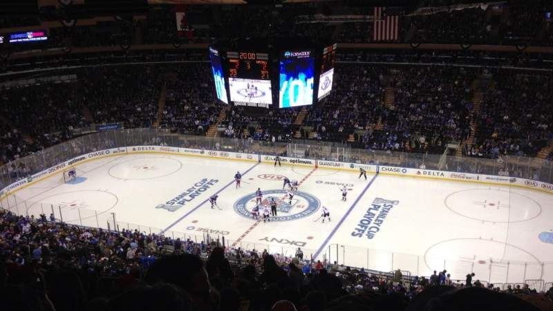 Seating view for Madison Square Garden Section 213 Row 22 Seat 9