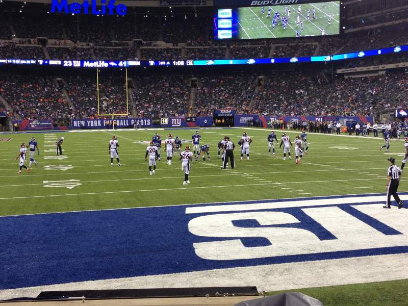 Seating view for Metlife Stadium Section 128 Row 3 Seat 6