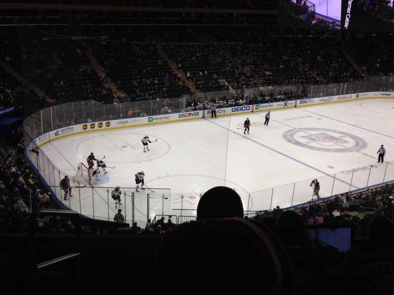 Seating view for Madison Square Garden Section 221 Row 5 Seat 1