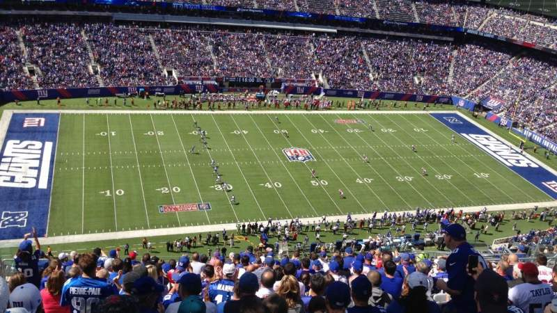 Seating view for MetLife Stadium Section 316 Row 22 Seat 17