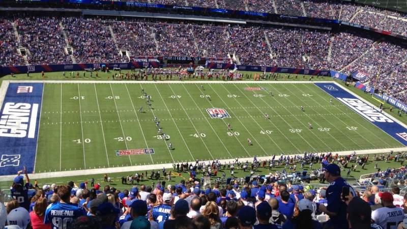 MetLife Stadium, section: 316, row: 22, seat: 17
