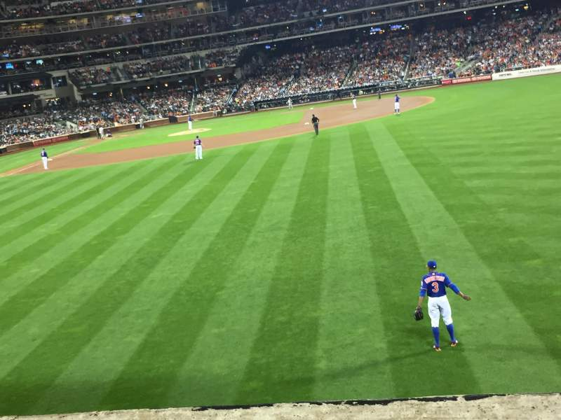Citi field, section: 101, row: 8, seat: 16