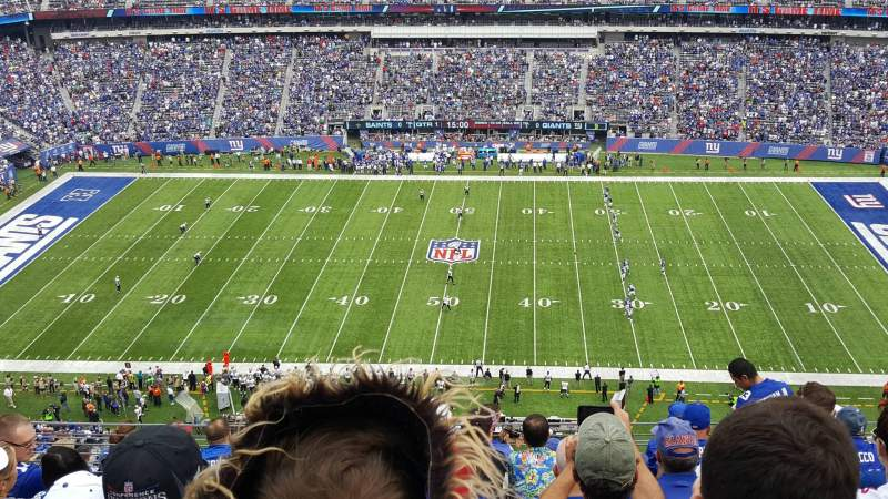 Seating view for MetLife Stadium Section 338 Row 12 Seat 12