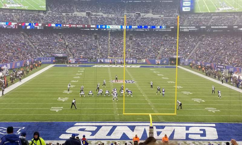 Seating view for MetLife Stadium Section 126 Row 37 Seat 25