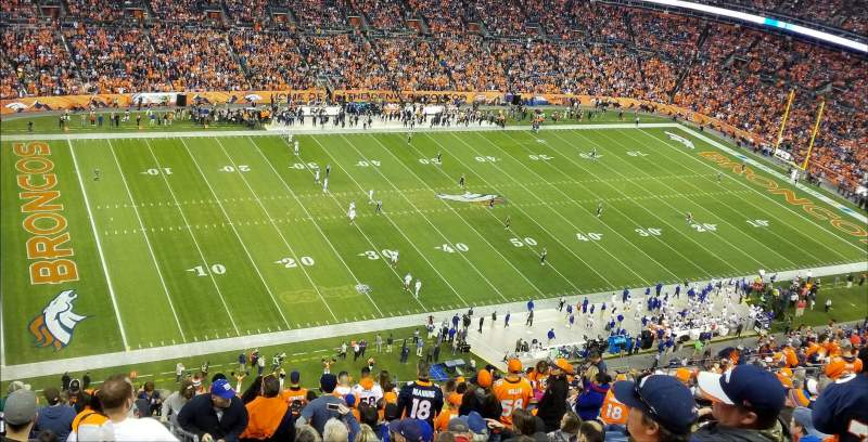 Seating view for Broncos Stadium at Mile High Section 539 Row 23 Seat 1