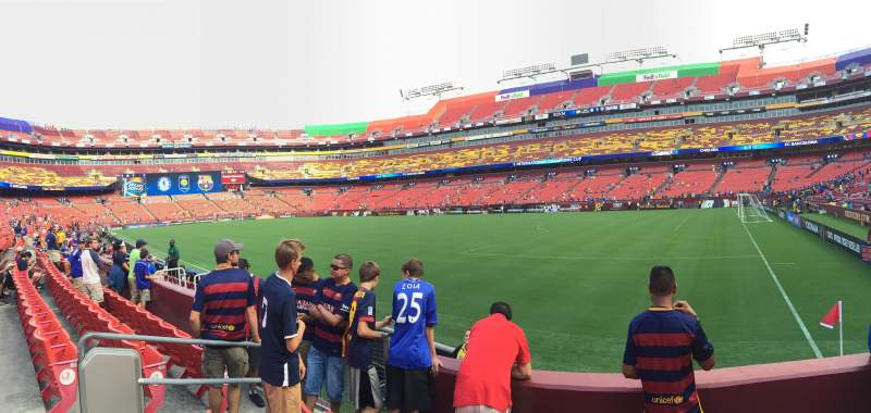Seating view for FedEx Field Section 117 Row 4 Seat 17