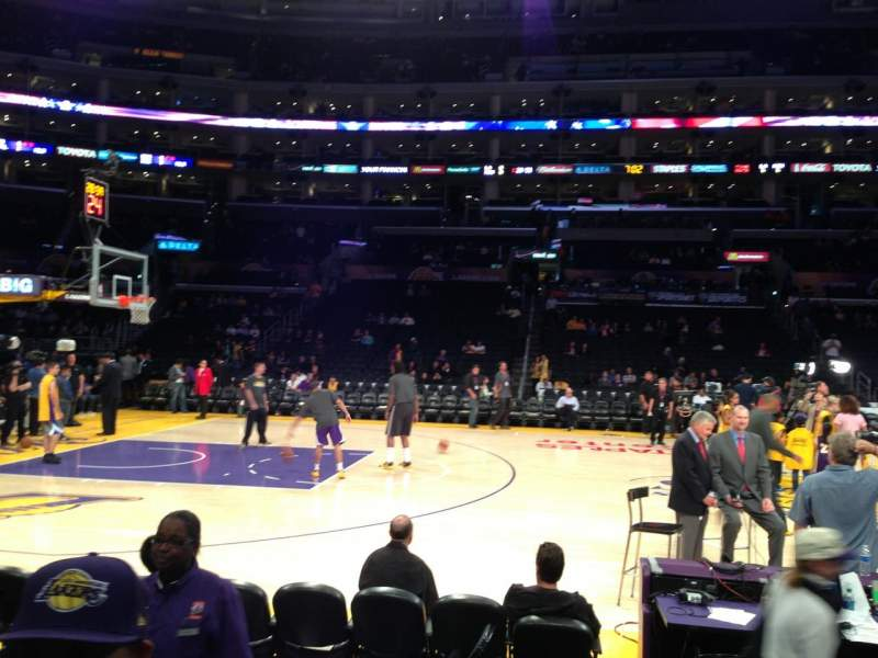 Seating view for Staples Center Section 101 Row 3 Seat 15