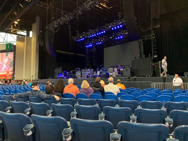 Seating view for Coastal Credit Union Music Park at Walnut Creek Section 1 Row Q Seat 18