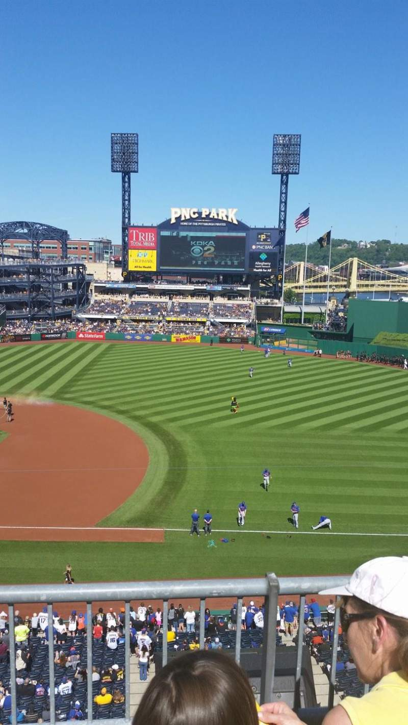 Seating view for PNC Park Section 208 Row B Seat 5