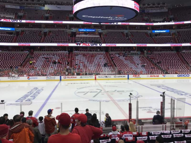 Seating view for Capital One Arena Section 100 Row M Seat 3