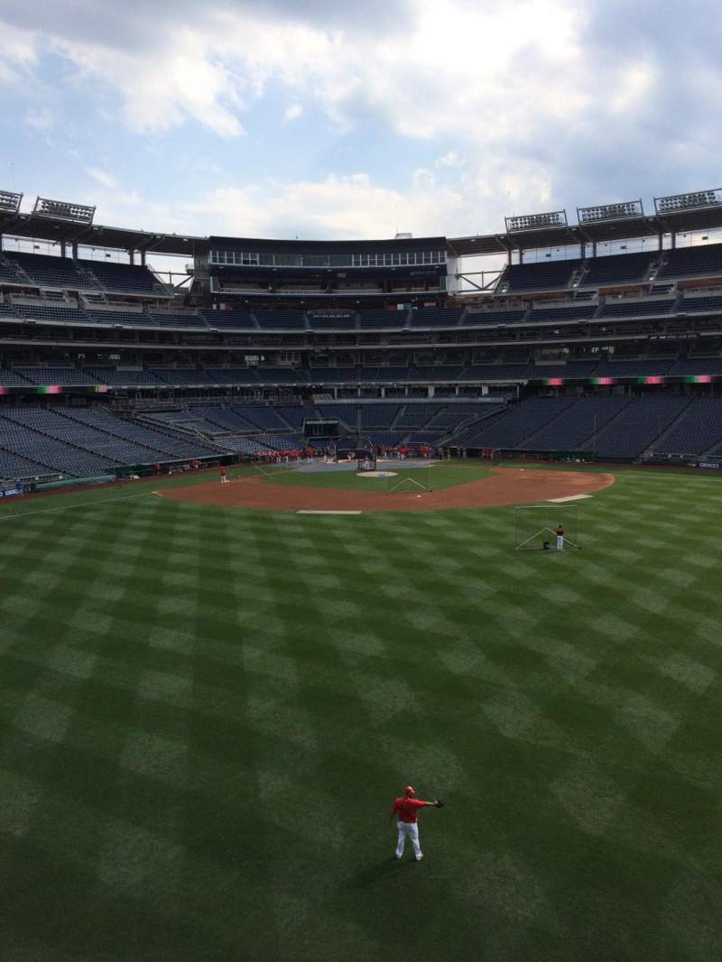 Seating view for Nationals Park Section 242 Row A
