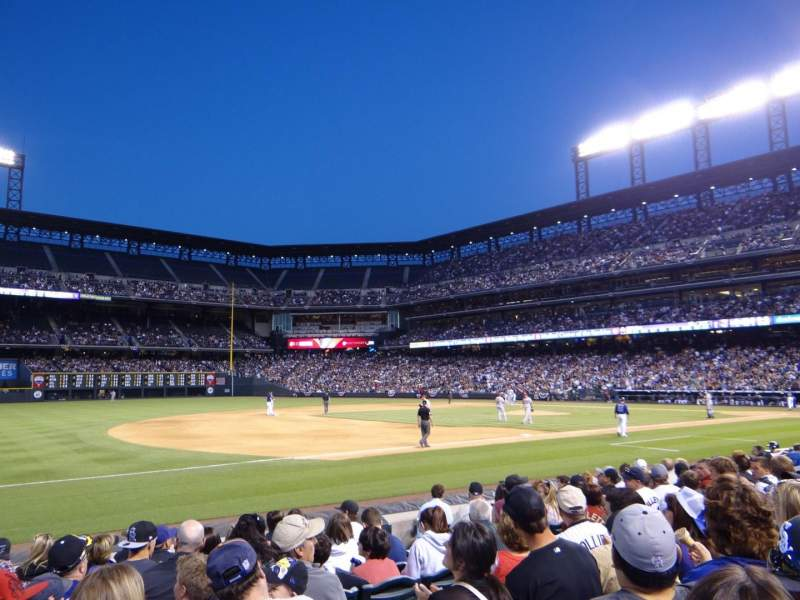 Seating view for Coors Field Section 142 Row 10 Seat 9