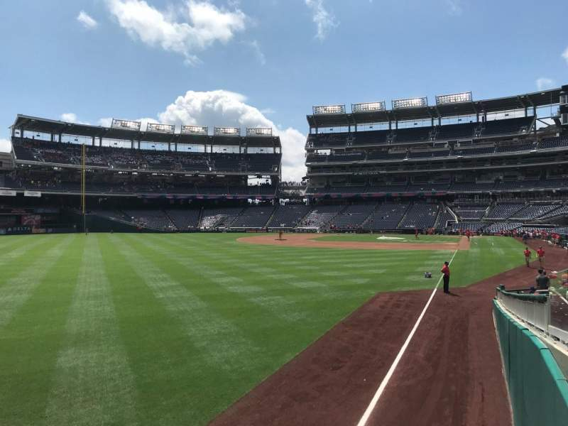 Nationals Park, section: 107, row: X, seat: 4