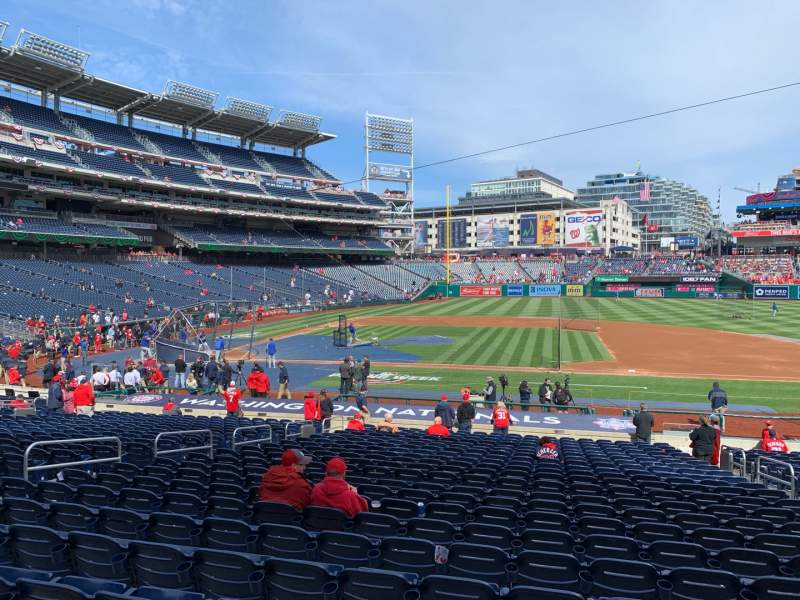 Seating view for Nationals Park Section 129 Row CC Seat 6
