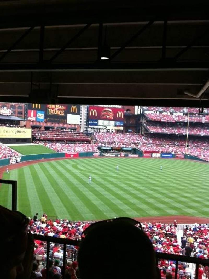 Seating view for Busch Stadium Section Champions Club 8 Row B Seat 9