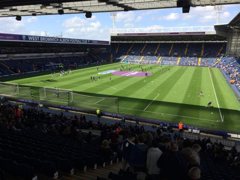 Seating view for The Hawthorns Section A1 Row TT Seat 11