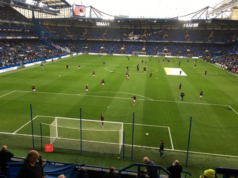 Seating view for Stamford Bridge Section Shed End Upper 4 Row 11 Seat 130