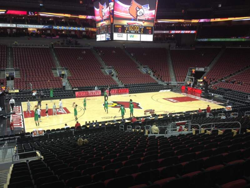 Seating view for KFC Yum! Center Section 117 Row BB Seat 16
