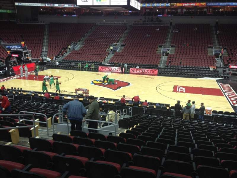 Seating view for KFC Yum! Center Section 115 Row W Seat 11