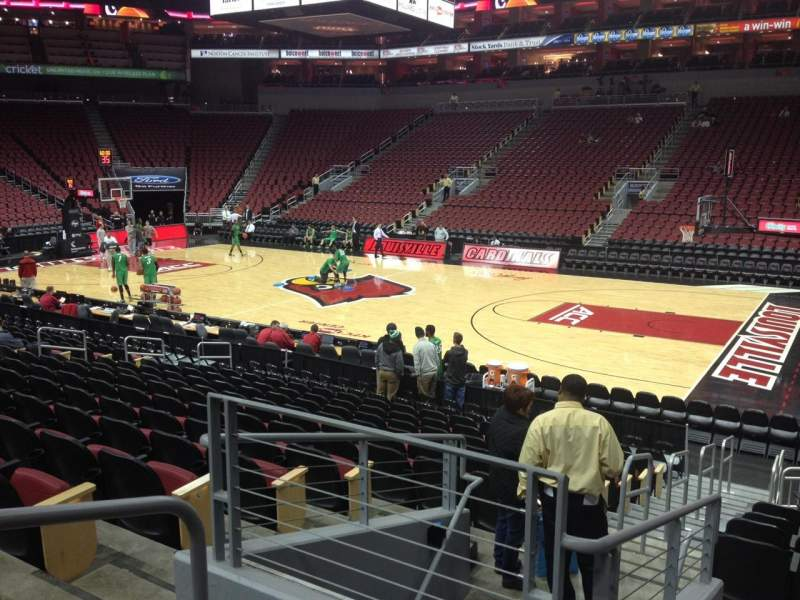Seating view for KFC Yum! Center Section 114 Row Q Seat 13