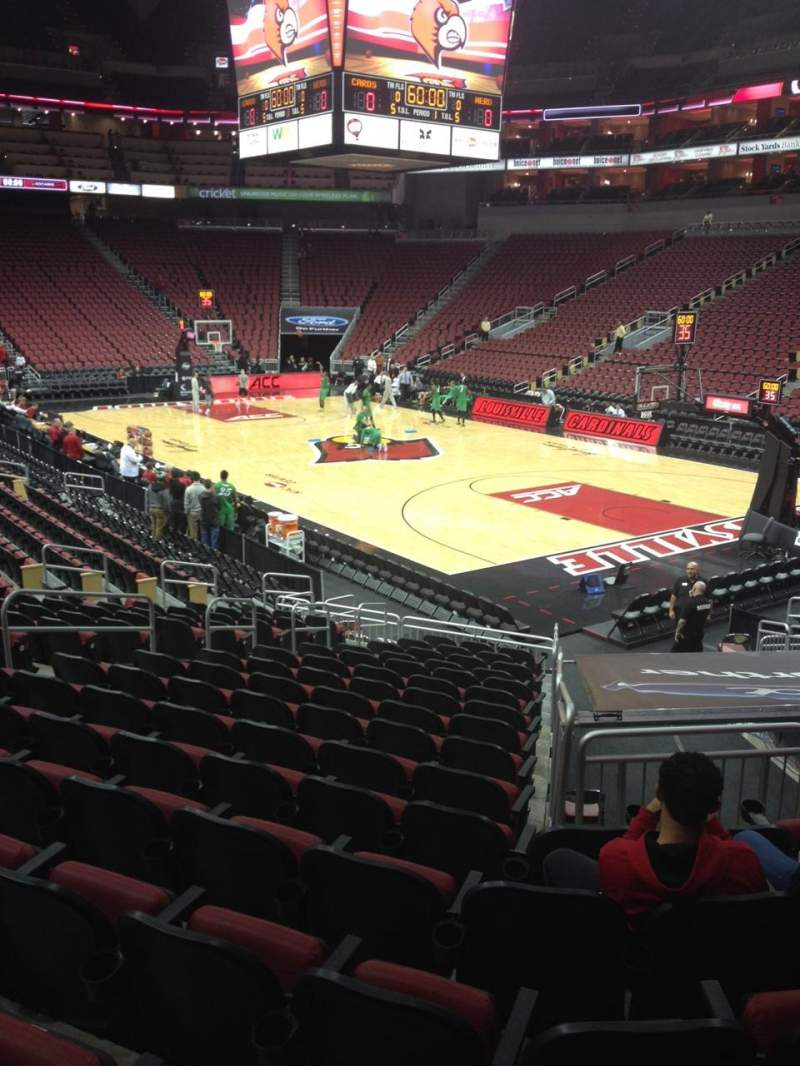 Seating view for KFC Yum! Center Section 113 Row T Seat 10
